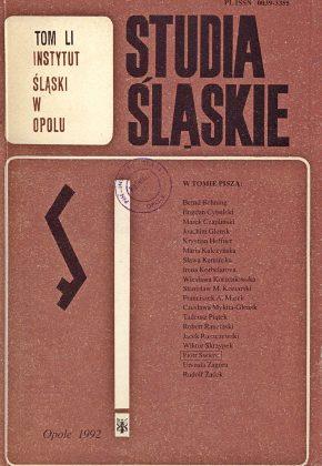 Studia Śląskie tom 51 - okładka