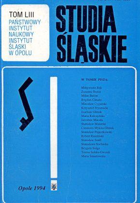 Studia Śląskie tom 53 - okładka