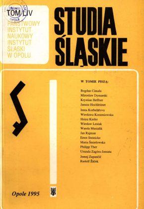 Studia Śląskie tom 54 - okładka