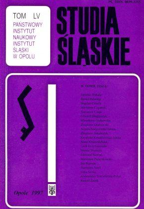 Studia Śląskie tom 55 - okładka