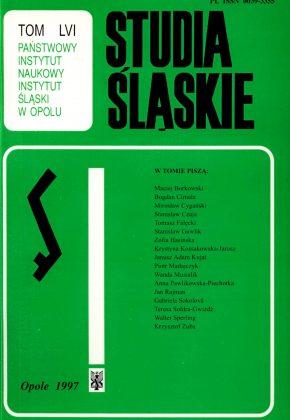 Studia Śląskie tom 56 - okładka