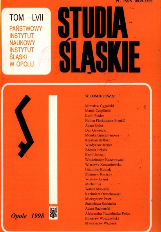 Studia Śląskie tom 57 - okładka