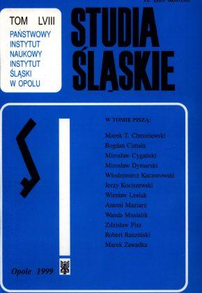 Studia Śląskie tom 58 - okładka