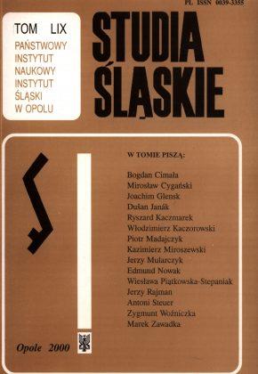 Studia Śląskie tom 59 - okładka