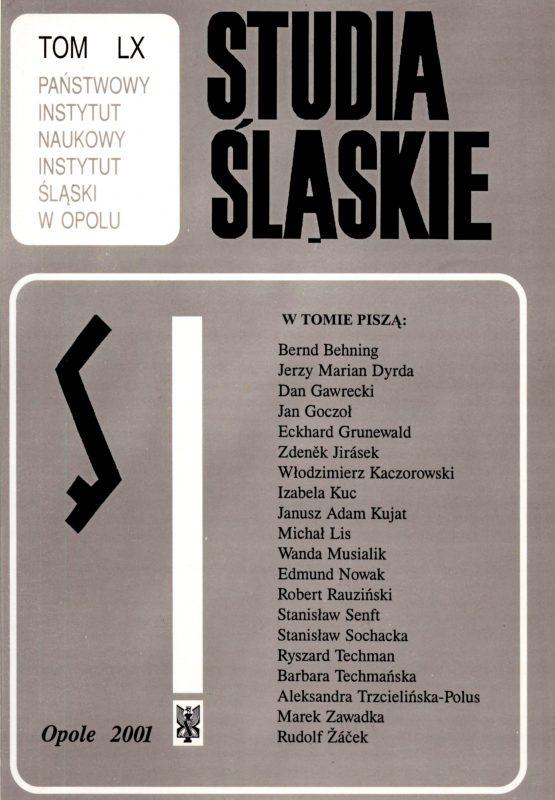 Studia Śląskie tom 60 - okładka