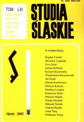 Studia Śląskie tom 61 - okładka