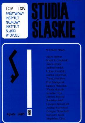 Studia Śląskie tom 64 - okładka