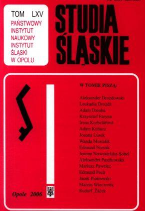 Studia Śląskie tom 65 - okładka