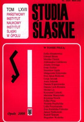 Studia Śląskie tom 67 - okładka