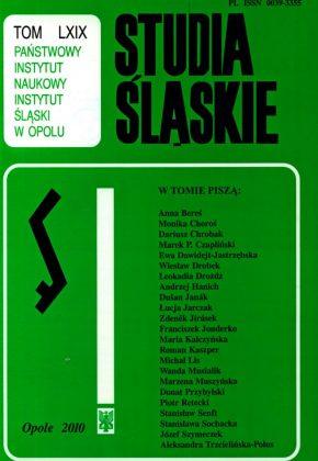 Studia Śląskie tom 69 - okładka