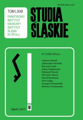 Studia Śląskie tom 72 - okładka