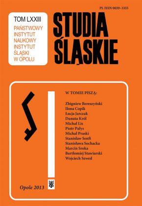 Studia Śląskie tom 73 - okładka