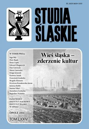 Studia Śląskie tom 74 - okładka