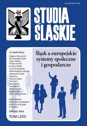 Studia Śląskie tom 75 - okładka