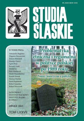 Studia Śląskie tom 77 - okładka