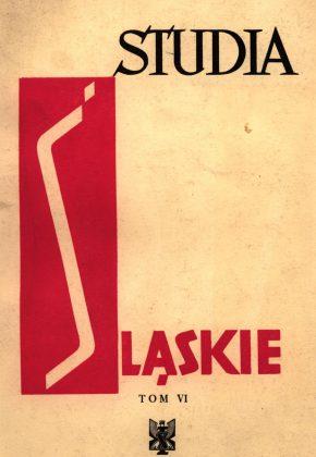 Studia Śląskie tom 6 - okładka