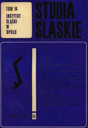 Studia Śląskie tom 14 - okładka