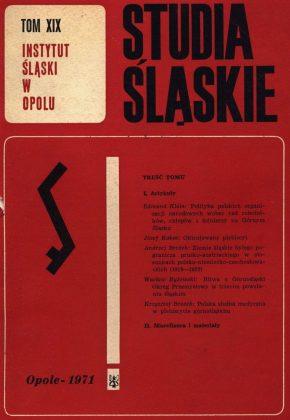 Studia Śląskie tom 19 - okładka