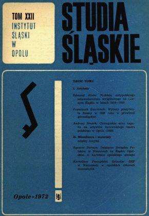 Studia Śląskie tom 22 - okładka