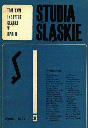 Studia Śląskie tom 26 - okładka