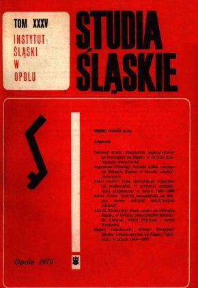 Studia Śląskie tom 35 - okładka