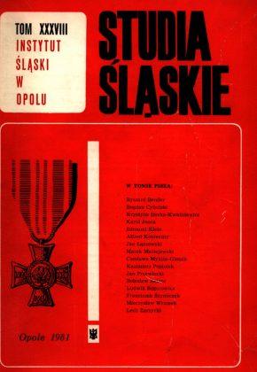 Studia Śląskie tom 38 - okładka