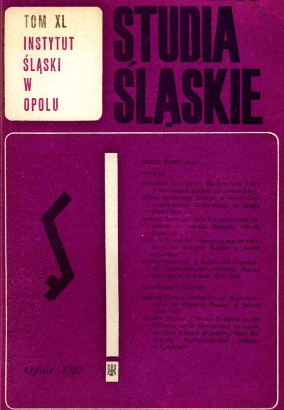 Studia Śląskie tom 40 - okładka