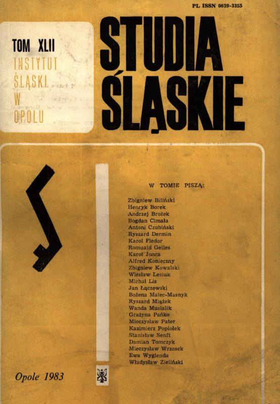 Studia Śląskie tom 42 - okładka