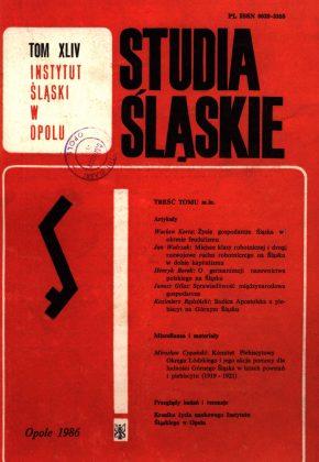 Studia Śląskie tom 44 - okładka