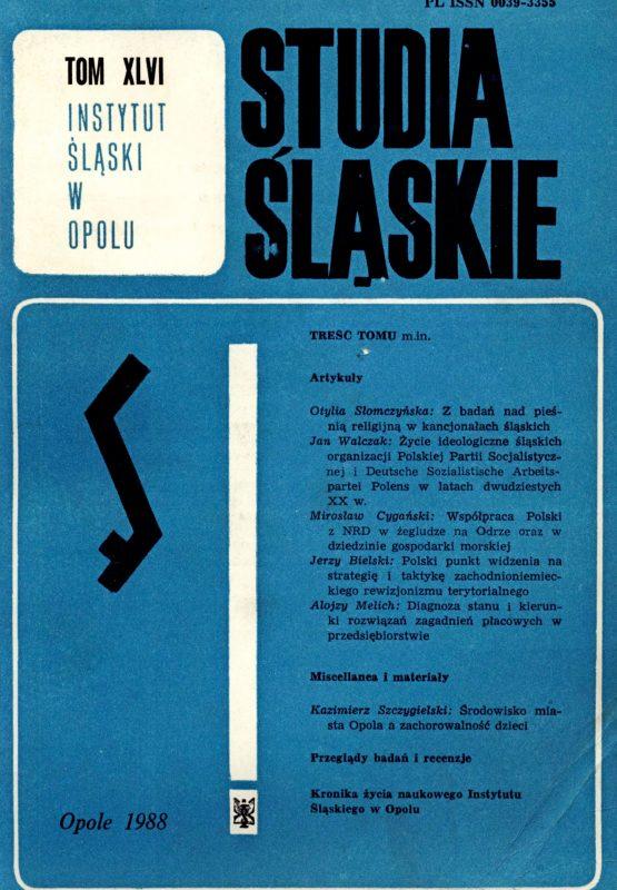 Studia Śląskie tom 46 - okładka