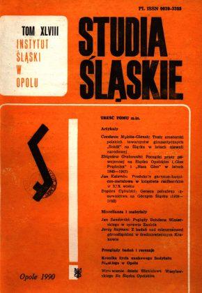 Studia Śląskie tom 48 - okładka