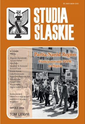 Studia Śląskie tom 78 - okładka