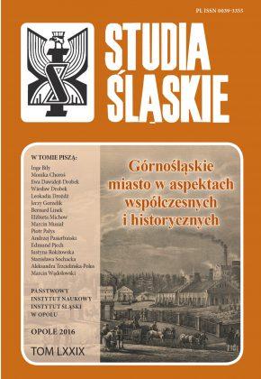 Studia Śląskie tom 79 - okładka