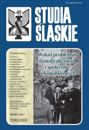 Studia Śląskie tom 80 - okładka