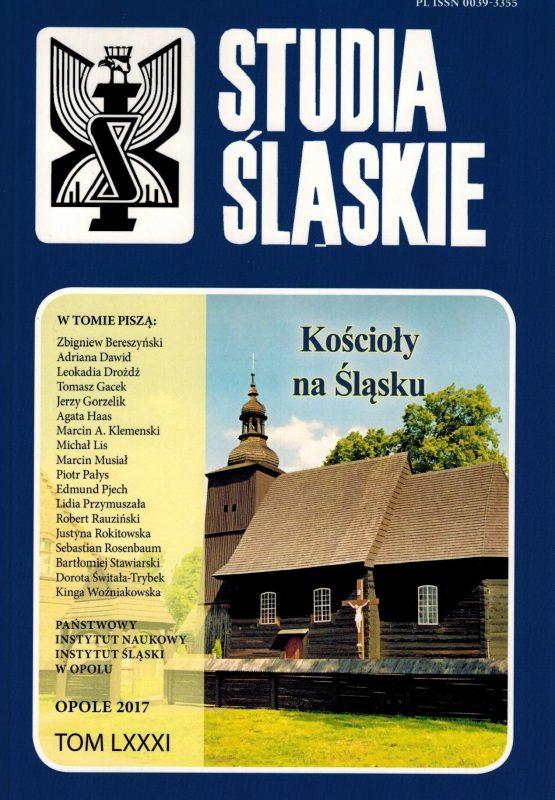 Studia śląskie 81 - okładka