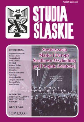 Studia śląskie 82 - okładka
