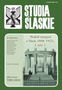 Studia śląskie 85 - okładka